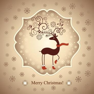 beautiful christmas greeting card vector