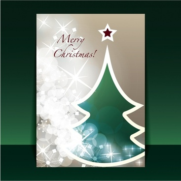 beautiful christmas greeting card vector flyer