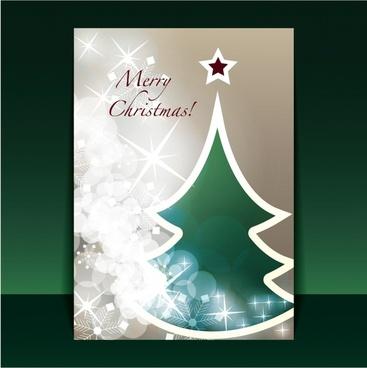 beautiful christmas greeting card vector flyer