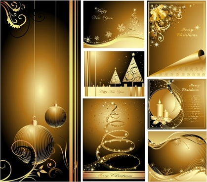 christmas background templates elegant shiny sparkling decor