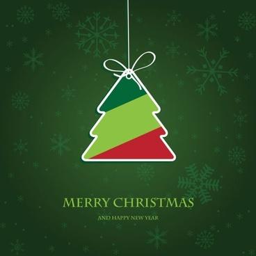 beautiful christmas label 02 vector