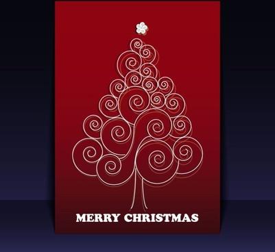 beautiful christmas leaflets 02 vector