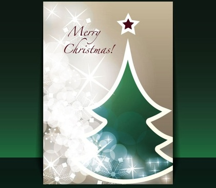 beautiful christmas leaflets 03 vector