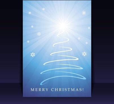 beautiful christmas leaflets 04 vector