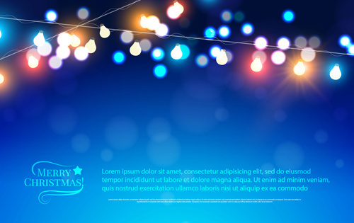beautiful christmas light background vector