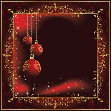 beautiful christmas ornaments background vector illustration