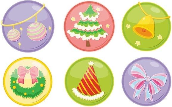 beautiful christmas ornaments icon vector