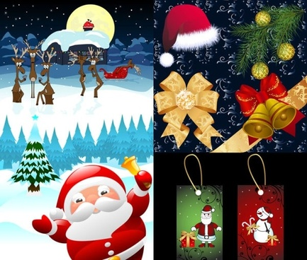 beautiful christmas ornaments vector