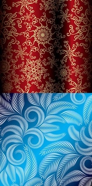 beautiful christmas pattern vector