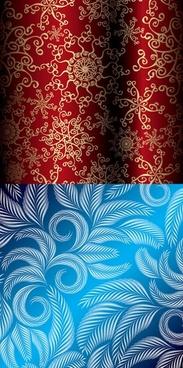 beautiful christmas pattern vector