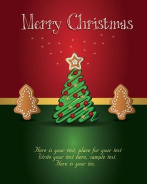 beautiful christmas tag 01 vector