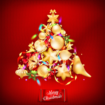 beautiful christmas tree15 background vector