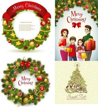beautiful christmas wreath vector