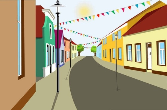 Beautiful city building vector background