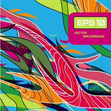 beautiful color line patterns 01 vector