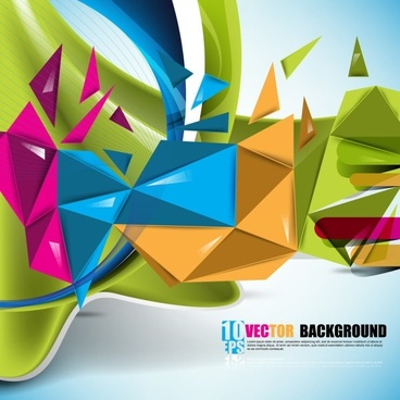 beautiful colorful background 01 vector