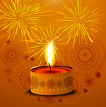beautiful colorful happy diwali diya bright colorful hindu festival vector design