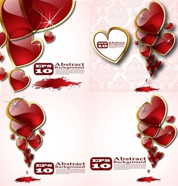 beautiful crystal heart vector