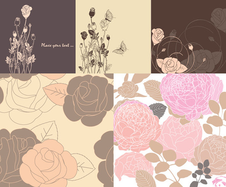 beautiful decorative pattern background art