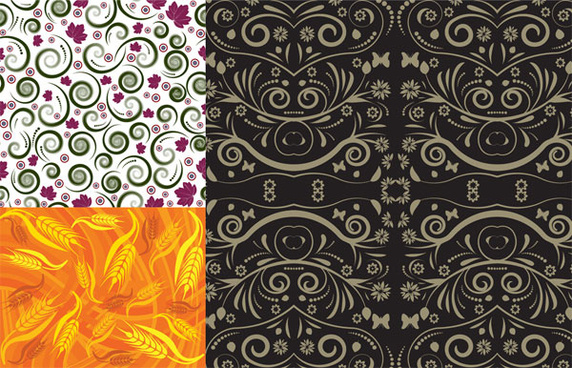 beautiful decorative pattern background vector