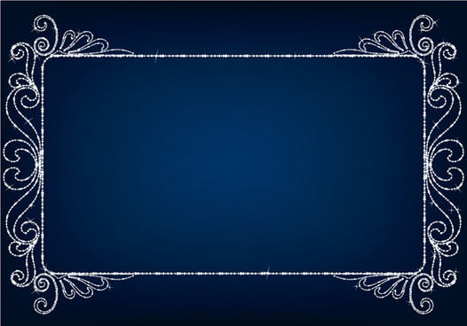 beautiful diamond border vector