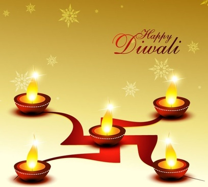 beautiful diwali cards 01 vector