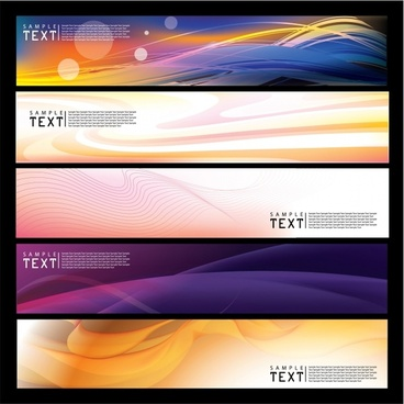 decorative banner templates modern dynamic abstract horizontal design