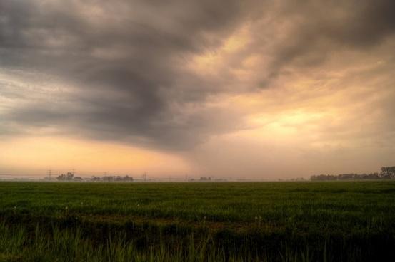 beautiful dutch landscape with local rain
