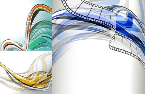 beautiful dynamic lines of the background vector fashion