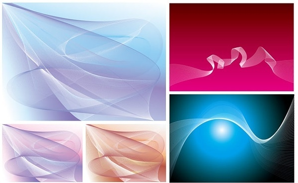beautiful dynamic lines of vector dream