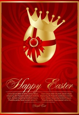 beautiful easter cards 02 vector