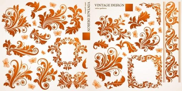 beautiful european butterfly pattern vector