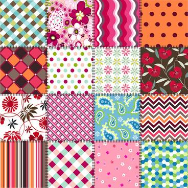 beautiful fabric patterns vector