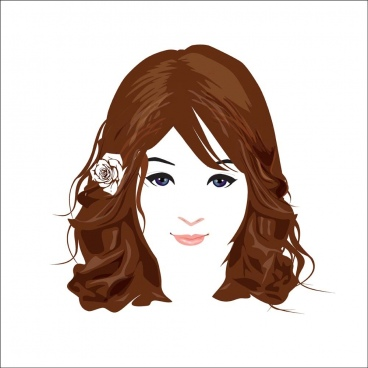beautiful face vector 2