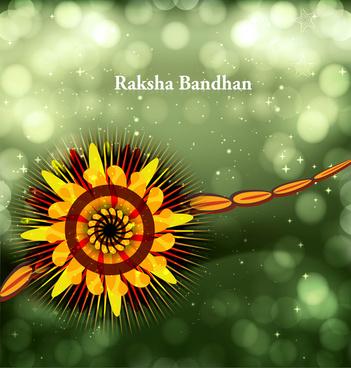 beautiful festival raksha bandhan background vector
