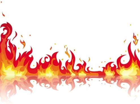 beautiful flame vector clip 05