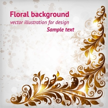 decorative background shiny retro flora decor