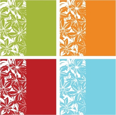 flora background templates colored flat plain sketch