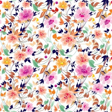 flora pattern elegant colorful classical decor