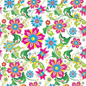 flora background colorful flat design repeating decor
