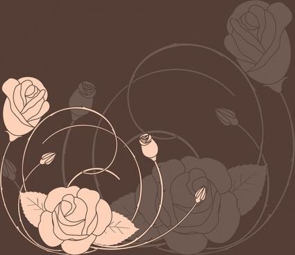 roses background dark handdrawn vintage blurr motion