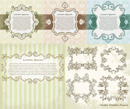 beautiful floral border vector