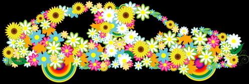 beautiful floral car design graphics