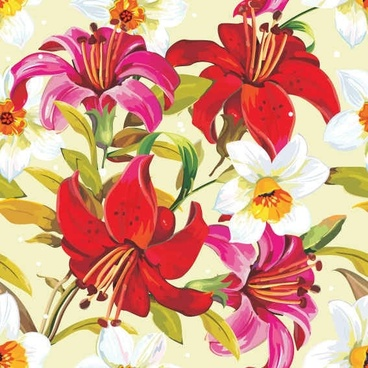 Beautiful floral flowers background