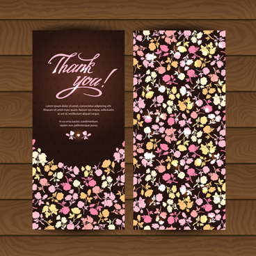 beautiful floral pattern cards set