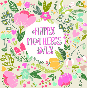 beautiful floral pattern greeting cards vector graphics