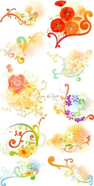 beautiful floral pattern vector series series 1 10p