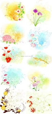 beautiful floral pattern vector series series 4 10p