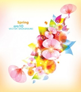 beautiful floral spring background vector