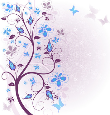 beautiful floral spring backgrounds vector